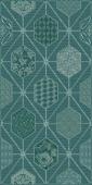 Плитка AZORI Devore 315x630 indigo geometry декор