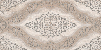 Плитка AZORI Ascoli 315x630 grey classico декор