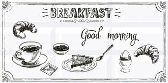 Плитка AZORI Вог 405x201 Breakfast 1 декор