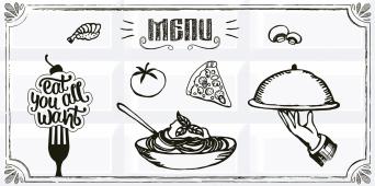 Плитка AZORI Вог 405x201 Breakfast 4 декор