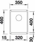Мойка SUBLINE 320-U SILGRANIT PuraDur кофе с отв.арм. InFino  BLANCO 523415