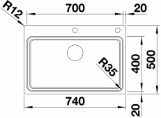 Мойка ETAGON 700 - IF/A нерж.сталь зеркальная полировка с кл.-авт. InFino  BLANCO 524274