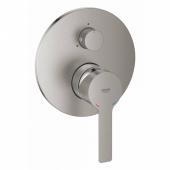 Смеситель для ванны GROHE Lineare New с переключателем на 3 положения, суперсталь (24095DC1)
