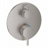 Внешняя часть термостатического смесителя для ванны GROHE Atrio с переключаталем на 2 положения, суперсталь (24138DC3)