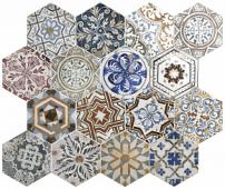 Керамогранит EQUIPE Hexagon Grand Opera (16 вариантов паттерна) 29,2*25,4