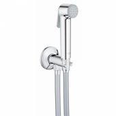 Набор для гигиенического душа GROHE Tempesta-F Trigger Spray 30 (гигиенический душ, нажимной запорный вентиль, шланг 1000 мм), хром (26358000)