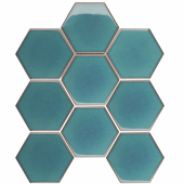 Кер. мозаика Hexagon big Green Glossy (JJFQ80071) 256х295х6