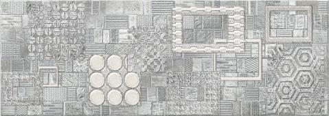 Декор 25,1*70,9 COMMESSO GRIGIO GEOMETRIA