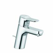 KLUDI PURE&EASY Однорычажный смеситель на умывальник 70, c донным клапаном, для безнапорных нагревателей, арт. 372760565
