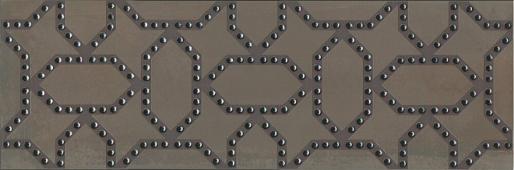 Декор Раваль обрезной 30х89,5 корчневый