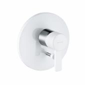 KLUDI ZENTA Встраиваемый смеситель для ванны и душа DN 15 белый/хром, арт. 386509175