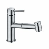 KLUDI STEEL Однорычажный смеситель для кухни, выдвижной излив, переключатель, арт. 44851F860