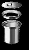 SOLON с плоским кантом IF (мел.столешница) 30 см  BLANCO система сортировки