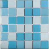 Кер. мозаика 48x48 Light Blue Mix Glossy (WB43388) 306х306х6