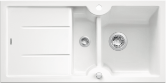 Мойка IDESSA 6 S керамика глянцевый белый с клапаном-автоматом (Заказная позиция) BLANCO 516000