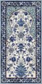 Декор Орнамент синий обрезной 119,5х238,5