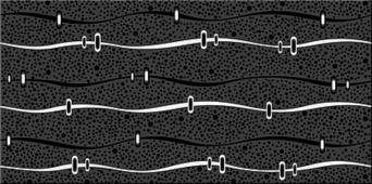 Плитка AZORI Дефиле Неро 405x201 декор Геометрия