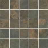 Декор Рамбла коричневый мозаичный 25х25х9