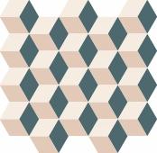 Мозаика Элемент Силк Куб Колд 30.5х33