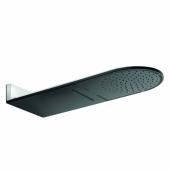 KLUDI A-QA Верхний душ, струи бодрящая, естественная, чёрный матовый/хром, арт. 6488087-00