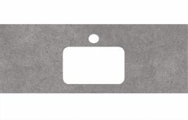 Спец. декоративное изделие для раковин, встраиваемых сверху, 120 см Фондамента серый