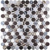 Мозаика Circle Aqua Black Mix (на сетке)(0,091 м2)