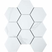 Кер. мозаика Hexagon big Carrara Matt (PMFQ82223) 256х295х6