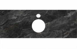 Спец. декоративное изделие для накладных раковин 120 см Риальто темный серый лаппатированный