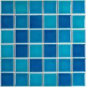Кер. мозаика 48x48 Crackle Blue Mixed Glossy (LWWB84555) 306х306х6