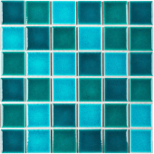 Кер. мозаика 48x48 Crackle Green Mixed Glossy (LWWB83333) 306х306х6