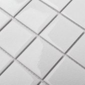 Кер. мозаика 48x48 Crackle White Glossy (LWWB81531) 306х306х6