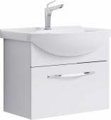 Аллегро тумба с умывальником Элеганс 650 , цвет белый, Agr.01.06/1, 59,8*46*31,8