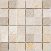 Мозаика Art Botticino матовая 30х30х0,8 см (чип 48х48х8 мм)