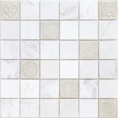 Мозаика Art Dolomiti bianco матовая 30х30х0,8 см (чип 48х48х8 мм)