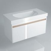 Тумба BUONGIORNO подвесная для раковины 100 см с 1 выдвижным ящиком + 1 внутренний ящик, белая