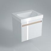 Тумба BUONGIORNO подвесная для раковины 60 см с 1 выдвижным ящиком, белая