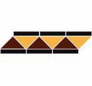 Бордюр керамический Border RICHMOND Black Stand.(14+20+21) 42х12,1 см