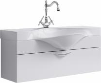 Бродвей тумба с умывальником подвесная с ящиком, цвет белый Brw.01.10/001/W, 110*40*32,5