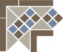 Угол керамический Corner LISBON with 1 strip (Tr.01, Dots 29+11, Strips 29) 21,5х21,5 см
