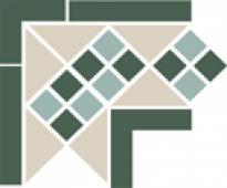 Угол керамический Corner LISBON with 1 strip (Tr.16, Dots 13+18, Strips 18) 21,5х21,5 см