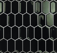 Мозаика Candylike Crayon Black glos 38x76x8 мм размер сетки (278x304x8 мм)