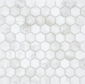 Мозаика Pietrine Hexagonal - Dolomiti Bianco матовая 29,5x30,5х0,6 см (чип 18х30х6 мм)