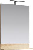 Фостер Панель с зеркалом и светильником, цвет дуб сонома 60*80*14