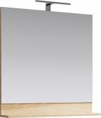 Фостер Панель с зеркалом и светильником, цвет дуб сонома, FOS0208DS 80*80*14
