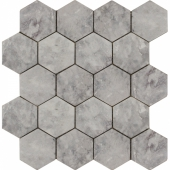 Мозаика, натур. мрамор Hexagon Lg Tumbled 74x74 (270X305X9)