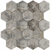 Мозаика, натур. мрамор Hexagon LgP 74x74 (270X305X9)