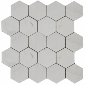 Мозаика, натур. мрамор Hexagon Mw Tumbled 74x74 (270X305X9)