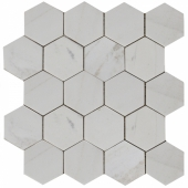 Мозаика, натур. мрамор Hexagon VMwP 64X74 (305X305X8) полированная