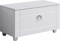 Инфинити Тумба напольная с ящиком, цвет белый Inf.03.08, 80*44,5*40