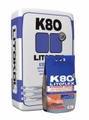Клей цементный LITOFLEX K80 серый, 25 кг